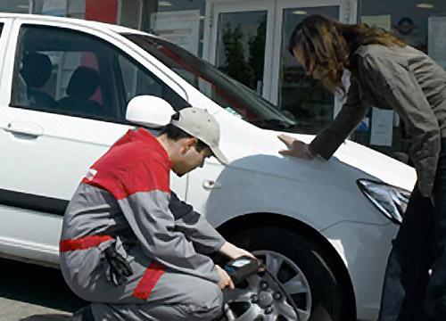 Preverjanje tlaka v pnevmatikah